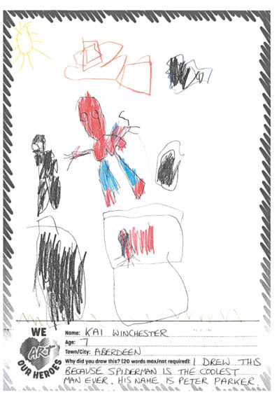 635 Kai Winchester Age: 7, Aberdeen Spider-Man is my hero because he is cool