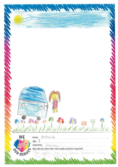 624 Sienna Age: 7, Aberdeen The police are my heroes because they stop the robbers