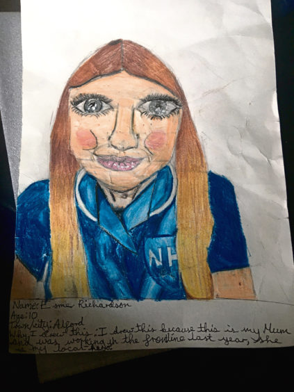 626 Esme Richardson Age: 10, Alford My hero mum is a frontline worker