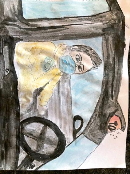 629 Sienna Rennie Age: 9, Tarves My granda is my lockdown hero