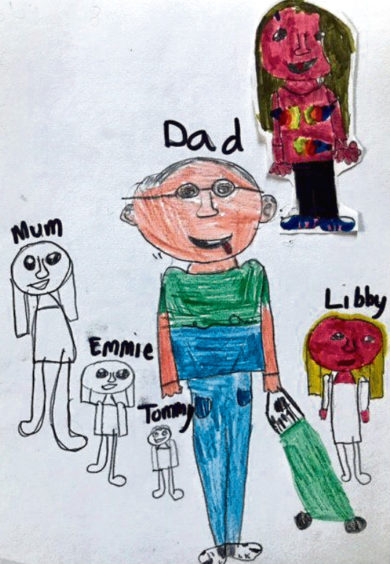 682 Libby Sandison Age: 8, Whalsay My family are my heroes