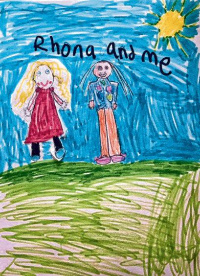 683 Ellyn Reid Age: 7, Whalsay My friend Rhona is my hero