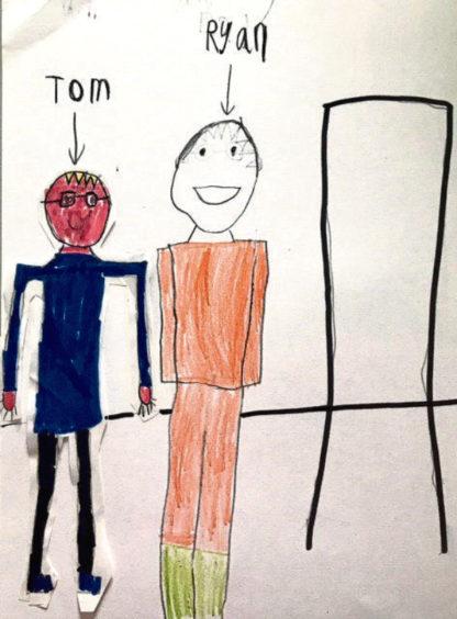 717 Ryan Polson Age: 7, Whalsay My friend Tom is my hero