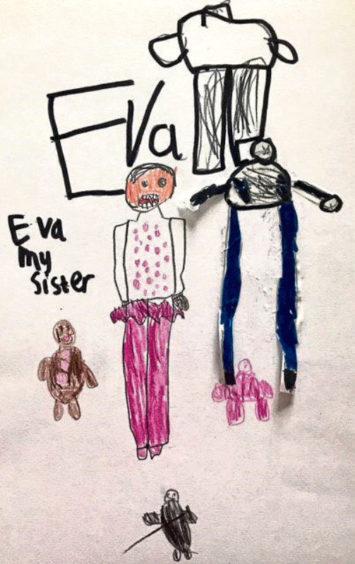 703 Zak Irvine Age: 7, Whalsay Eva my peerie sister is my hero