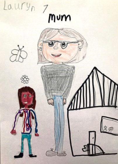 720 Lauryn Irvine Age: 7, Whalsay My Mum is my hero