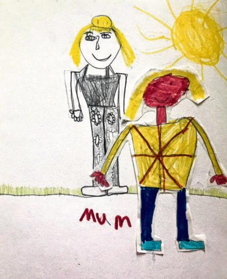 721 Finleigh Robertson Age: 7, Whalsay My Mum is my hero