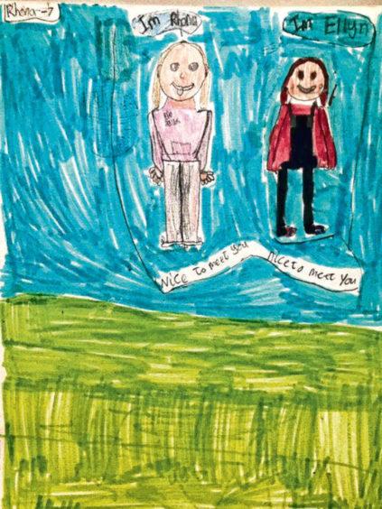 722 Rhona Leask Age: 7, Whalsay My friend Ellyn is my hero