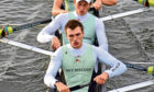 Ben Dyer, front, who will row for Cambridge against Oxford.