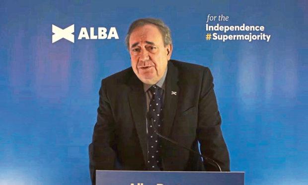 Alex Salmond launching the Alba Party.