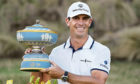 Billy Horschel holds his trophy after winning the Dell Technologies Match Play Championship.