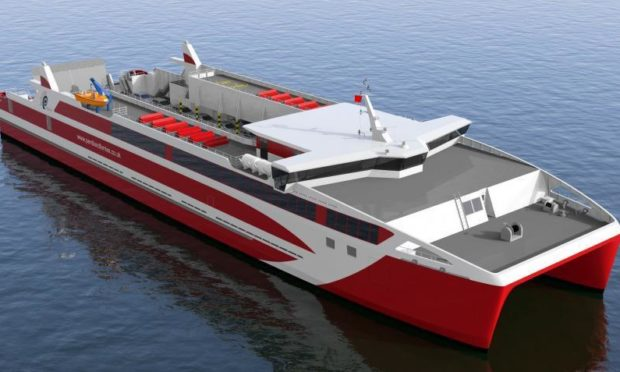 A catamaran similar the one proposed for Mull.