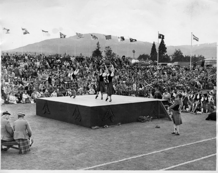 Highland Dancing at the Aboyne Games in 1958.