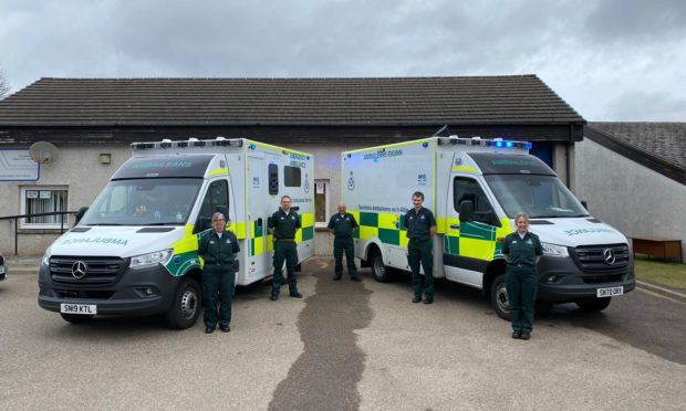 Six new posts have been created by the Scottish Ambulance Service allowing the operation at Aviemore to deliver 24/7 care. Picture supplied by the SAS.