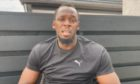 Olympian Usain Bolt in the video for Mosstowie Primary School.