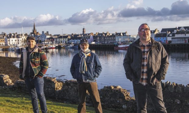 """Local musicians Willie Campbell, Calum Martin and Iain """"Costello"""" Maciver will play the final ceilidh on April 30."""