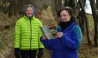 Lumphanan Paths Group has created a leaflet to show the best walks in the area and promote their village's heritage and history. Picture of (L-R) Ann Raeburn and Deb Munro.