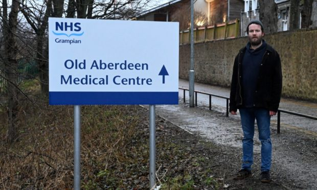 "Jonathan Juel-Beer and campaigners protesting change at Old Aberdeen Medical Practice have branded the investigation a ""whitewash"""