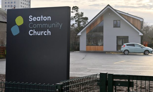 Seaton Community Church.  Picture by Kenny Elrick     18/12/2020