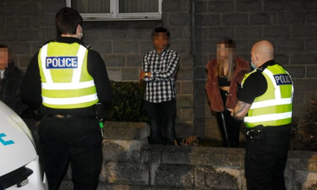 Students caught at an indoor gathering by police in Aberdeen at the weekend, against Covid restrictions