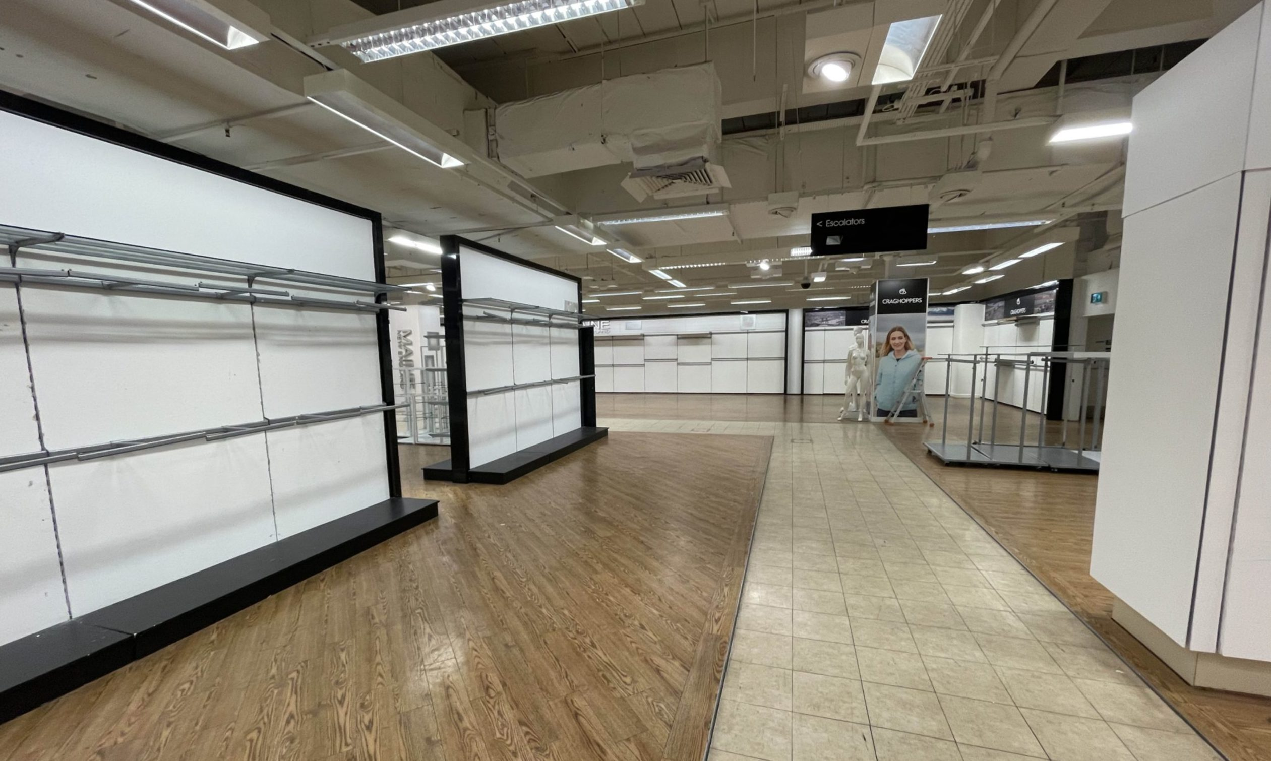 All stock was removed from the Aberdeen branch of Debenhams when it closed.
