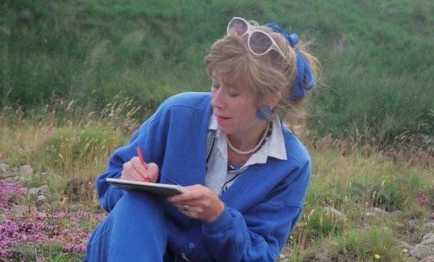 Doreen Cannavan drawing in Glenlivet in 1990.