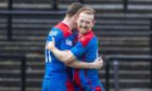 Caley Thistle midfielder David Carson, right.