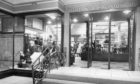 The entrance to prestigious Aberdeen department store Esslemont and Macintosh in 1962.