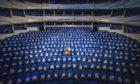 Eden Court Empire Theatre as Humanitarian Aid Centre. Jane Barlow