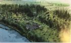 Visualisation of Ann Gloag's proposal for woodland lodges