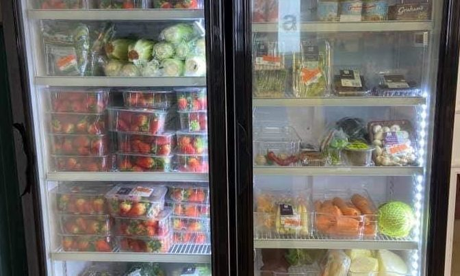 Haven Helpers were able to stock an entire fridge with strawberries and other fresh produce which would otherwise have been discarded.