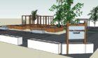 Artist impression of planned community garden