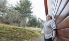 Flora Dempster who has raised safety fears over 70ft trees on the Altyre Estate falling onto her property.