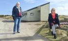 The Findhorn Village Conservation Company has applied to Moray Council to own both the toilet blocks at the beach. Pictured: Secretary Cathy Low and chairwoman Christine Hunt.