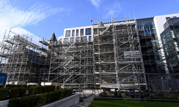 "Scaffolding around Provost Skene's House in Aberdeen will be removed in the ""coming weeks"""