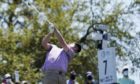 Robert MacIntyre, of Scotland, hits his tee shot on the No. 7 hole during a third round match at the Dell Technologies Match Play Championship golf tournament Friday, March 26, 2021, in Austin, Texas.