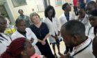 Dr Mhoira Leng teaching postgraduate doctors in Uganda.