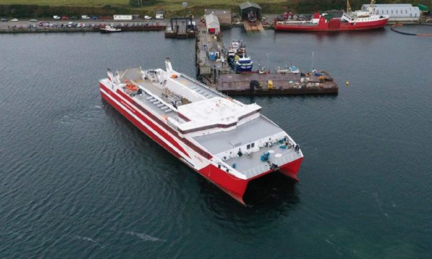 A catamaran similar to one being sought for the Mull-Oban route