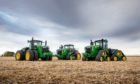 Some tractors from the new range.