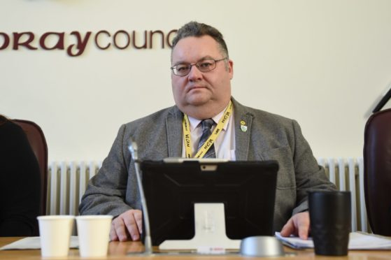 Graham Leadbitter, leader of Moray Council