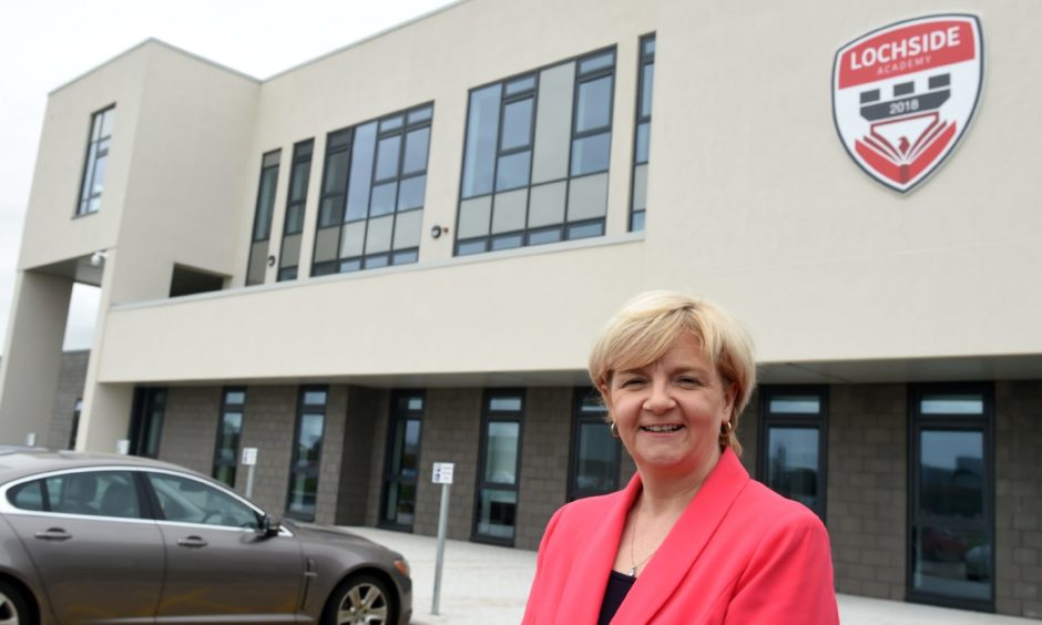 Council co-leader Jenny Laing at Lochside Academy, ahead of the opening of the replacement for Kincorth and Torry academies.