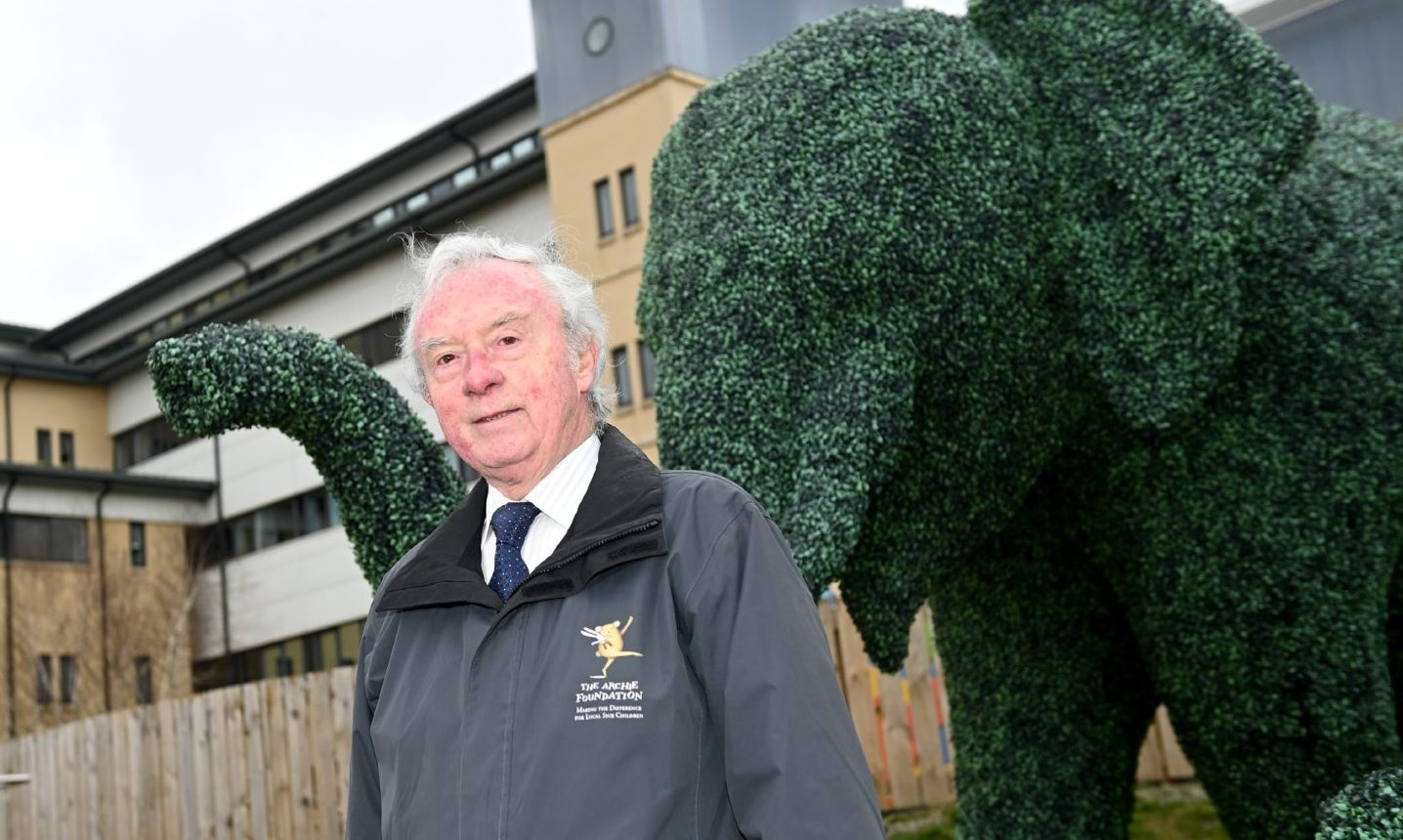 Joe Mackie, chairman of The Archie Foundation, outside Royal Aberdeen Children's Hospital.