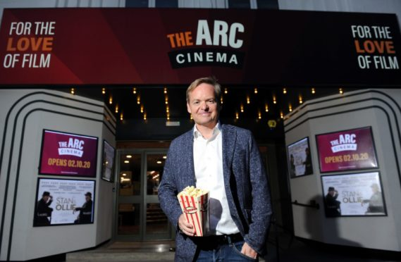 Film director Jon S Baird at the opening of the The Arc Cinema, Peterhead. Picture by Darrell Benns.