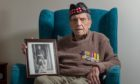 Donald Smith at his Forres home shortly before his 100th birthday.