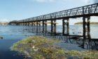 East Beach footbridge.