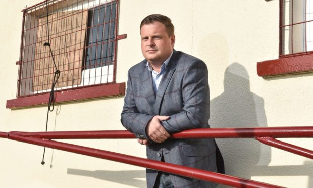 Keith FC chairman Andy Troup.