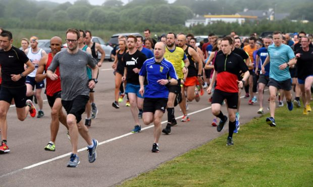 Aberdeen parkrun. Picture by Kenny Elrick