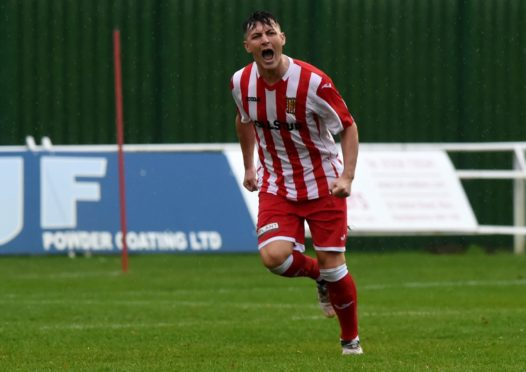 Archie Macphee in action for Formartine United.