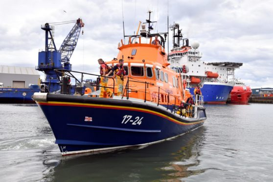 Aberdeen's All-weather Lifeboat (ALB) in the harbour. Picture by Kami Thomson