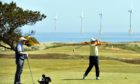 Golfers tee off at Murcar Links Golf Club when it reopened in May 2020.