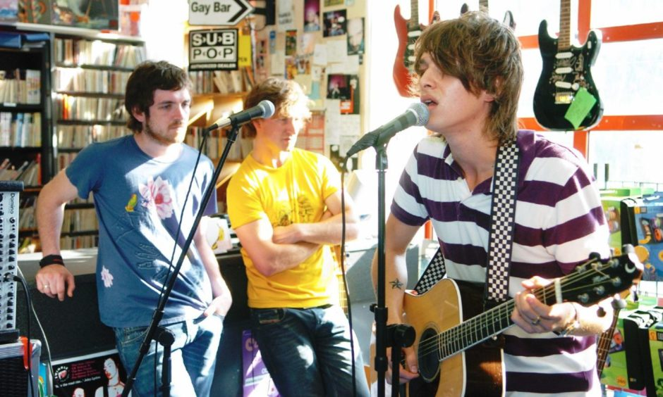 Before he was famous, singer-songwriter Paolo Nutini played a gig at One Up Record Shop on Belmont Street as he launched his career in 2006.